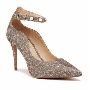 Vince Camuto Bronze Jassita Ankle Strap Heel 10M